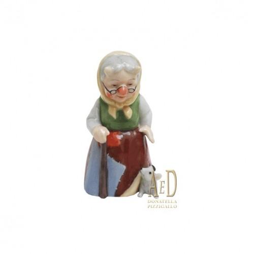 Royal Copenhagen figura Nonna Troll con il topolino