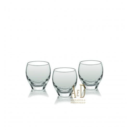 Ivv Obelix Set 6 bicchieri liquore trasparenti