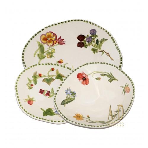 Andrea Fontebasso Servizio di piatti da 4 Botanico