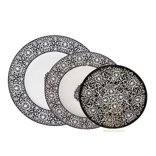Servizio di piatti da 12 Tabriz Noir