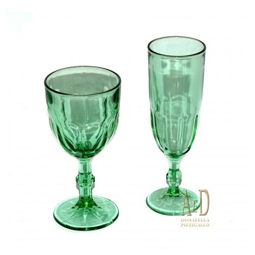 Servizio di bicchieri Romeo verdi