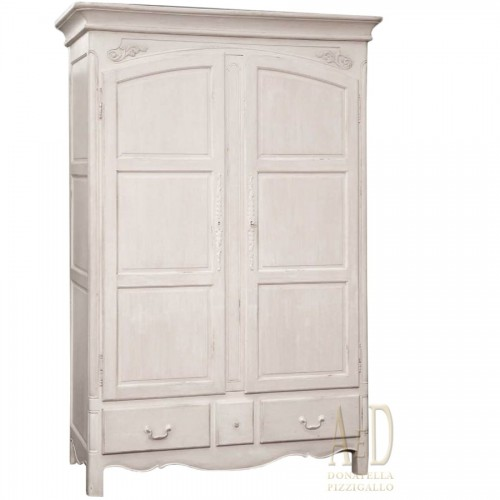 TWO DOOR CABINET SHABBY CHIC PICKLED