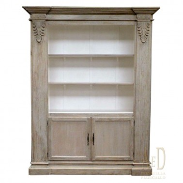 WOODEN BOOKCASE WITH TWO DOORS