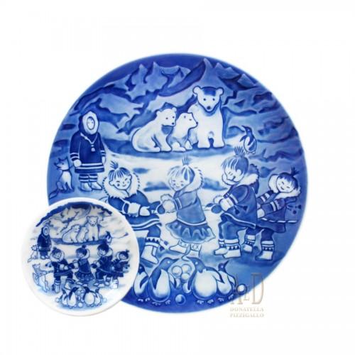 Royal Copenhagen Christmas Plate with Plaquette 2005