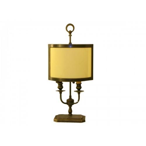 Lampada da Tavolo con finitura ottone antico