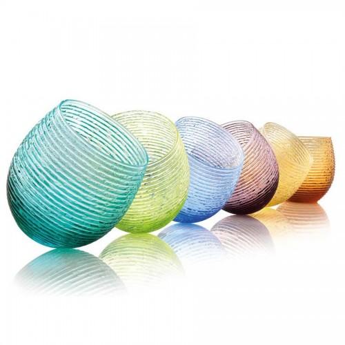 IVV Set 6 Bicchieri Acqua Multicolor